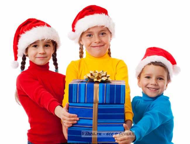 новогодние подарки, подарки детям