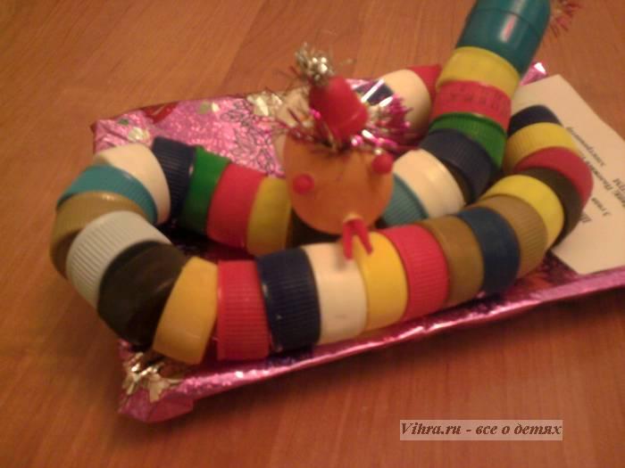 поделка для детей - змея