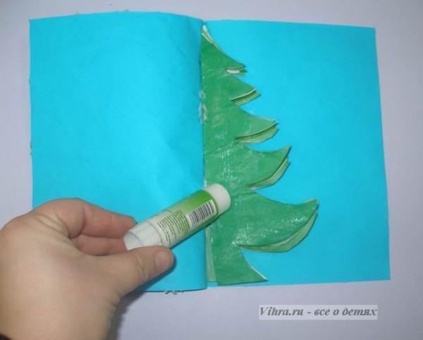 Как сделать выпуклую открытку своими руками на новый год