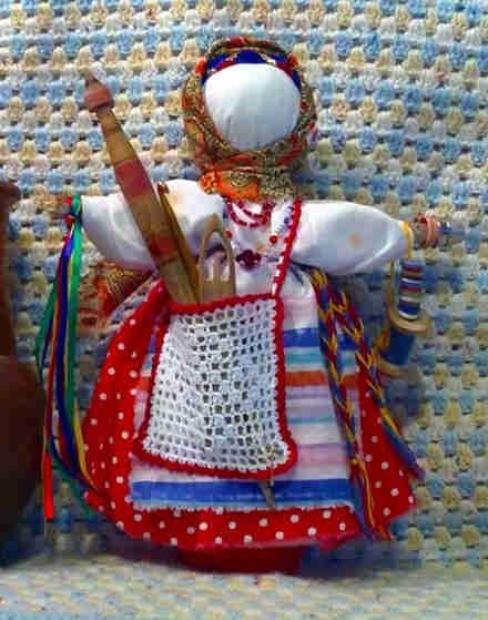 тряпичная кукла, кукла столбушка, поделка